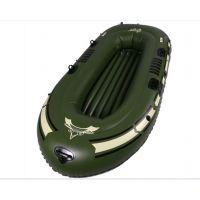 厂价直销 三人皮划艇 充气漂流船 PVC充气船加厚带浆钓鱼船