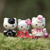 helloKitty 公主KT猫DIY造景微观盆景多肉摆件花园微景观园艺饰物
