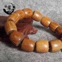 批发正宗天然美洲绿檀手串檀香木复古男女佛珠手链 1.5桶珠饰品