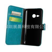 HTC One mini 2 M8迷你疯马纹钱包手机皮套 左右翻插卡支架保护壳