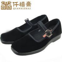 厂家直销 老北京布鞋工装工作黑布鞋 热卖跳舞女鞋坡跟单鞋老年鞋
