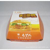 厂家定制手提包装盒 汉堡彩盒 糕点纸盒 一次性汉堡盒 寿司餐盒