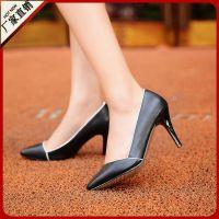 供应秋季欧洲站新款单鞋 时尚优雅OL潮女鞋 性感尖头简约细高跟鞋