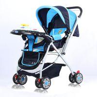 龙祥婴儿推车高景观轻便可坐躺 避震折叠双向四轮婴儿车手推车