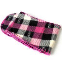 【三折清仓】!杂志款红黑格子精致时尚潮流抓绒围巾保暖围巾