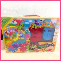 西瓜太郎仿真恐龙模具套装彩泥 儿童DIY益智玩具 学生文具礼品