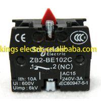 原厂施耐德 常闭触头模块 ZB2-BE102C