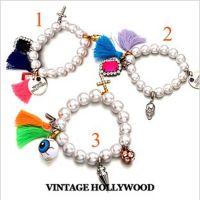 H079 个性玩味珍珠十字架手链  饰物 手链