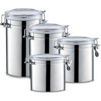 锐友密封罐 储物罐 糖果罐 不锈钢保鲜罐 咖啡豆茶叶干果易扣罐