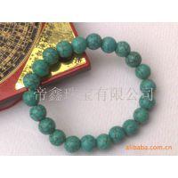 供应绿松石手链 绿松石圆珠手链  水晶宝石