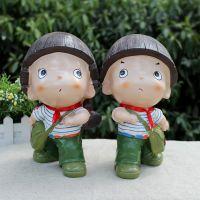 海魂衫红军娃娃树脂储蓄罐 纯真年代情侣居家摆件 存钱罐 礼品