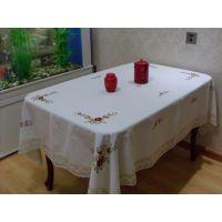 巧妹子绣花台布全棉长方形桌布现货一块起批桌布餐桌布