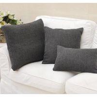 简欧宜家风高端欧式竹节纯色高端色织布艺靠垫抱枕含芯批发