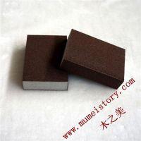 抛光专用海绵砂块销售,手握海绵砂块定制厂家,木之美批发海绵打磨砂块