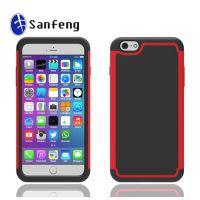 手机配件批发 iPhone6 plus足球纹手机壳 二合一双色手机保护套
