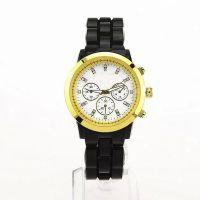五彩多色款透明胶女士M手表 三眼六针镶钻石英GUES手表