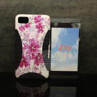 黑莓BB Z10 小蛮腰二合一手机壳 硅胶+pc保护套 水印花草系列