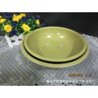 如意花密胺餐具仿瓷喷点如意大汤盘汤碗酒店例汤专用盘美耐皿