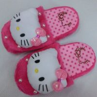 2014冬季新款棉鞋kitty卡通毛绒拖鞋
