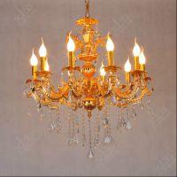 轩澜格欧式客厅水晶吊灯金色蜡烛卧室餐厅灯具现代艺术复式楼梯灯饰