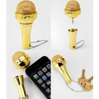 迷你手机便携音响 话筒/麦克风手机音响 3.5mm插孔通用无需供电