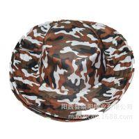 供应夏季遮阳帽 迷彩户外渔夫帽 全涤板球帽圆帽 专业生产生产定做厂