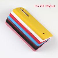 标信直销LG G3Stylus/D690N手机保护套PC硬壳喷油皮革工艺防滑套