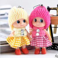 淘宝赠品创意小礼品格子裙小丑迷糊娃娃 手机挂件车内饰品批发