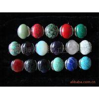 半成品批发  绿松石戒指 紫晶戒指 人造松石戒指 戒指批发 绿松石