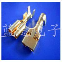 6.3MM插簧 接线端子冷压端子 全铜