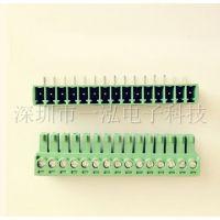 插拔式接线端子 KF2EDG 3.81MM 15P 整套 直针 弯配 环保