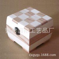 国裕工艺品厂家优惠热销翻盖首饰木盒 定做桐木首饰盒 加工小木盒