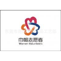 巾帼志愿者旗帜、巾帼志愿者徽章、巾帼志愿者胸卡