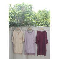 例外风格 旧色竹节纱大口袋衬衫袍子