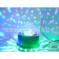 声控LED七彩旋转灯泡/水晶舞台灯/LED小太阳蘑菇舞台灯