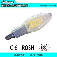 LED灯丝蜡烛灯 装饰水晶灯专用2700K暖光