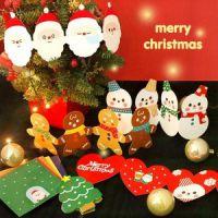 批发 韩国文具GMZ立体贺卡 风琴折叠式 圣诞卡信封组合2款