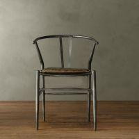 特价供应美式铁艺餐椅 家用餐厅休闲餐椅防锈复古椅子批发供应