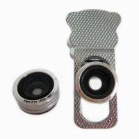 通用型金属夹子三合一手机镜头 鱼眼广角微距手机特效镜头套装