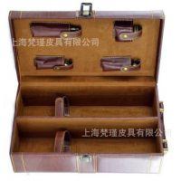 厂家定做红酒盒子 上海皮具订制高档礼品盒 葡萄酒盒子