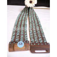 [厂家直销]珠编腰带 珠珠弹性腰带 手工串珠腰带 串珠腰链 腰饰