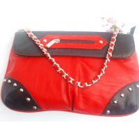 深圳晚宴包供应优质PU单肩女包 PU铆钉时尚晚宴包 可来样来图生产