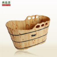 贵森源香柏木三孔蝴蝶边沐浴桶  美容院专用木桶  洗澡木桶