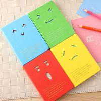 罗莎创意文具 韩版潮流表情搞怪镂空硬抄笔记本 日记本批发