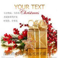 圣诞礼品 圣诞服装、圣诞帽、圣诞树用饰物、圣诞袜子、圣诞树国际快递、国际空运到荷兰、加拿大