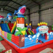 新款大鲨鱼海底世界充气大滑梯 室外蹦蹦床 充气玩具儿童游乐设施