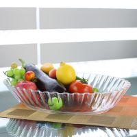 厂家批发 供应透明塑料沙拉盘 酒店西餐用水果托盘 糖果盘