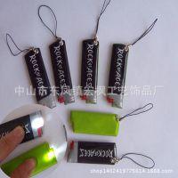 植物绒手机擦 随意贴手机擦 创意手机擦带灯挂件 PVC反光手机擦