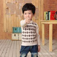 厂家直销秋季新款韩版童装 男童打底衫 长袖中小童针织衫A9478