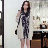 韩国东大门女装秋冬新款厂家批发韩版宽松长款时尚开衫毛衣外套
